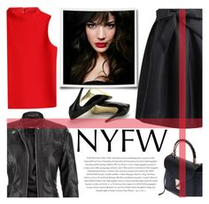 """""""NYFW"""" by m-zineta ❤ liked on Polyvore featuring maurices, Courrèges, Charles by Charles David, Envi and IVI"""