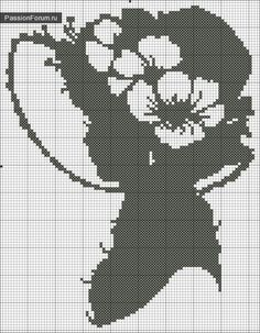 Cross stitch *<3* Point de croix silhouette