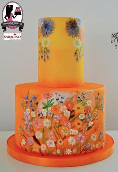 Couture Cakers 2018 by Sensational Sugar Art by Sarah Lou Creative Desserts, Fun Desserts, Amazing Wedding Cakes, Amazing Cakes, Pretty Cakes, Beautiful Cakes, Painted Wedding Cake, Hand Painted Cakes, Couture Cakes