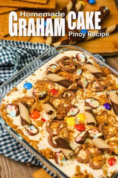 How To Make Refrigerated Cake / Graham Cake With Assorted Toppings. Refrigerated cake or Graham Cake is a Cake dessert made of Cream, Condensed Milk , Graham Crackers Added with your chosen Toppings and Filings. #refrigeratedcake #grahamcake #refcake Condensed Milk Desserts, Sweet Condensed Milk, Graham Cake, Easy To Make Desserts, Chocolate Wafers, Desserts Menu, Pinoy Food, Homemade Cakes, Graham Crackers