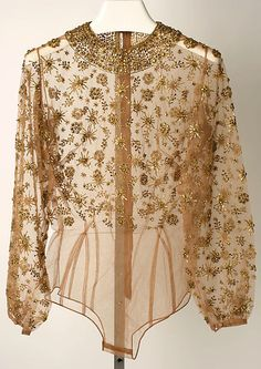Mainbocher evening blouse, circa 1950