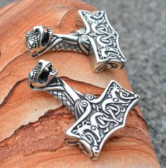 VIKING THOR HAMMER from Sterling Silver Oseberg by WulflundJewelry, Kč1350.00  How cool are these?????  - Misty