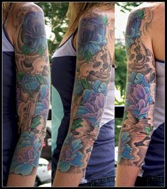 Like the mix of black/grey with color ...Nice sleeve. Feminine yet fierce. :) And I love the colors, too. :)