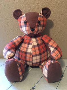 Adorable Vintage Hand Made Teddy Bear Made From Old