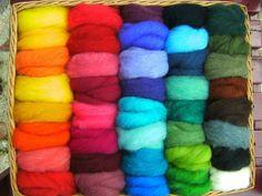 Märchenwolle, Filzen, Filzwolle, Schafwolle, 100% Bio, 40 Farben, 270g