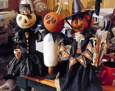 New Idea's and Adventures! Halloween Sewing, Easy Halloween Crafts, Halloween Doll, Holidays Halloween, Halloween Decorations, Halloween Stuff, Halloween Ideas, Primitive Fall, Pumpkin Faces