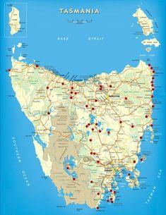 Free Camping Tasmania Map | TravellingTwo: Bicycle Touring Around The World