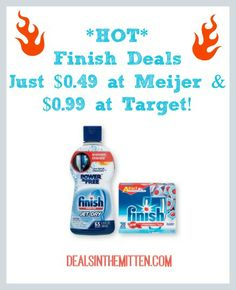 GREAT deals on finish at target and meijer this week!