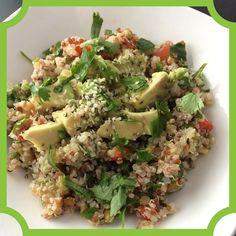 Quinoa salad with mung beans cucumber tomato bulgur cilantro and avocado by @julieboniecki. Topped with hulled hemps seeds.  ____________________________________  #vegan #veganfood #vegansofig #whatveganseat #veganfoodshare #vegetarian #vegetarianfood #vegetariansofig #whatvegetarianseat #delicious #nutritious #hempfood #nutritiousanddelicious #plantbased #healthyeats #healthyfood  #eatyourveggies #nomeat #meatless  #tomatoes #cilantro #hemphearts #veganrecipes #veganvip #bestofvegan…