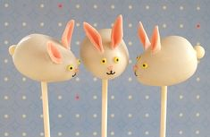 EASTER BUNNY CAKE POPS   by Sarah Phillips and Kelly CA © 2011 Sarah Phillips baking