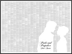 Pride and Prejudice Book Text Poster