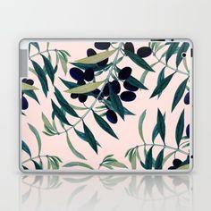 Olive Branch Pattern #society6 #decor #buyart Laptop & iPad Skin