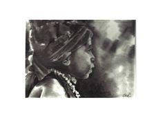 ''Highland Boy-Papua New Guinea'' pencil drawing