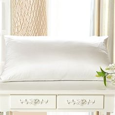 Fishers Finery 100% Pure Silk Pillowcase, Exceptional Value, Mulberry Silk, Available in Multiple Colors, 19mm, (White, Queen)