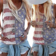 AMERICAN FLAG V NECK STRIPED STAR SEQUIN VEST TOP SLIM STRAP CASUAL PARTY SEXY TOP