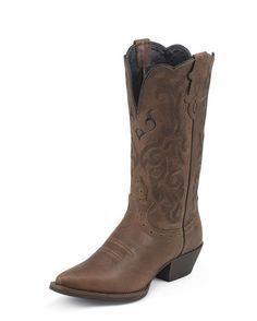 Justin Dark Brown Mustang Cowhide Boot $113.95