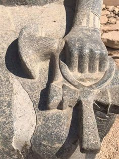 Detail of statue of Sechmet. Temple of Mut. Luxor.