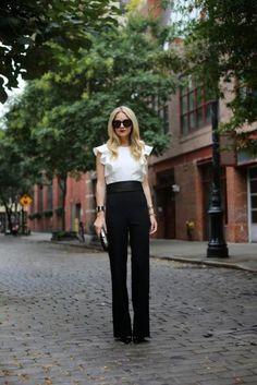 Heighten your self-esteem with leg-lengthening trousers like style blogger Blair's.
