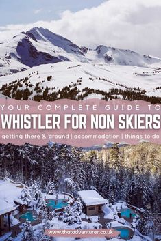 Looking for things to do in Whistler in winter? This guide to Whistler Blackcomb ski resort in BC will tell you everything you need to know about what to do in Whistler for non skiers! babies flight hotel restaurant destinations ideas tips Solo Travel, Travel Usa, Quebec, Marvel Universe, Michigan, Canadian Travel, Wanderlust, Koh Tao, Travel Guides