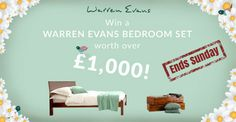 Countdown's on! Only 3 days left to #Win a bedroom set worth £1000! Ends midnight Sunday! http://woobox.com/i5j78d