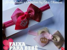 Laço Simples Com Chuva de Pérolas - YouTube Diy Videos, Hair Bows, Projects To Try, Lily, Gift Wrapping, Youtube, Instagram, Ribbon Flower, Hair Streaks