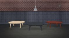 Meinkatz Creations: Around Coffee Table XL by Muuto • Sims 4 Downloads