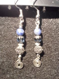 Coil and bead earrings
