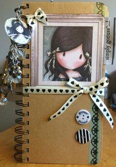 """Original pinner sez: Video of my Handmade Gorjuss Girl Journal """"Simply Gorjuss"""""""