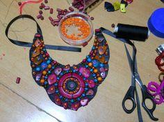 tribal bib necklace by AniDandelion.deviantart.com