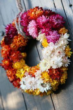 pretty dried flower wreath