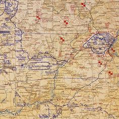 ☆ 75 Years Ago ✠ Battle of Stalingrad ☆ November 1942 Original German map from Oberkommando der Wehrmacht showing the situation on The frontline is now still, the Stalingrad pocket is. Battle Of Stalingrad, Vintage World Maps, German, Winter Storm, History, Wwii, Pocket, November, Frozen