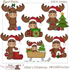Mike the Moose Christmas PSD Templates by by marlodeedesigns, $5.00