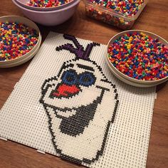 Olaf Frozen hama beads by  _sunnyslife_