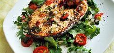 Medalion de somon in cuptorul cu convectie Salmon Burgers, Seafood, Ethnic Recipes, Food, Kitchens, Sea Food, Salmon Patties, Seafood Dishes