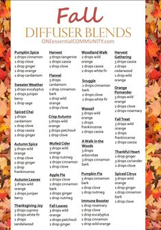 Fall diffuser blends - essential oils