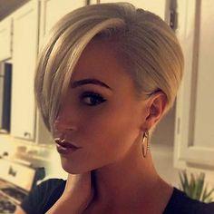 Short Straight Blonde Hair