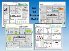 NwEa Map Reading and Math Review Mats Collection Bundle Creative Teaching, Teaching Tips, Teaching Math, Math Stations, Math Centers, Math Activities, Teaching Resources, Math Tools, Teacher Tools