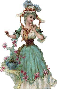 vintage accessories for the pics Victorian Art, Victorian Women, Victorian Fashion, Vintage Fashion, Decoupage Vintage, Vintage Ephemera, Vintage Postcards, Clipart Vintage, Marie Antoinette