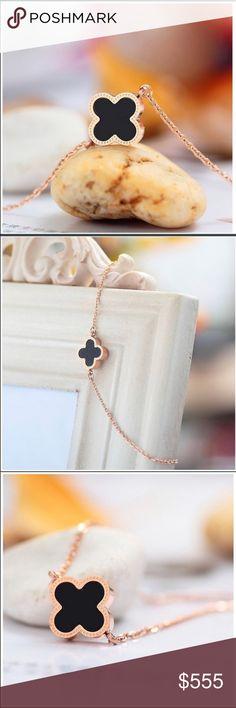 Coming soon!! 18k rose gold plated clover bracelet! Jewelry Bracelets