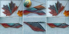 Autumn Leaves - Design Peak - I think that Svetlana Gordon is one of the best knitters on the planet. Knitting Stitches, Knitting Designs, Free Knitting, Stitch Patterns, Knitting Patterns, Crochet Patterns, Knit Crochet, Crochet Hats, Crochet Stitch