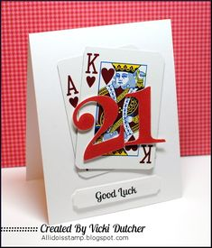 Vicki Dutcher: All I Do Is Stamp – Addicted to CAS - 3/15/14.  (Pin#1: Congratulations. Pin+: Encouragement; BINGO...).