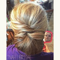 www.jenniferhebertbridal.com #instagram #jnahbridal #bridal #hairstyle #bridesmaids #bridalparty #group #messy #texture  #wella #kevinmurphy #updo #sideupdo #houston #denver #colorado #chignon #blonde