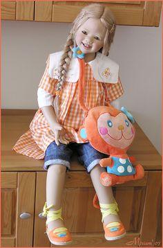 Lillemore in orange...(Club doll Annette Himstedt 2007)