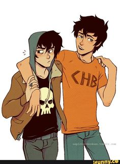 Nico and Percy. I love the idea of these two being best friends, even after Nico having a thing for Percy