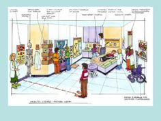 An interactive medical center exhibit will teach visitors about the inner workings of a doctors' office and medical center. Drawings provided by Kraemer Design + Production Photo: The Enterprise