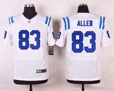 Men's NFL Indianapolis Colts #83 Dwayne Allen White Elite Jersey