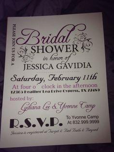 Bridal Shower Invitation :  wedding bridesmaids diy inspiration invitations Securedownload