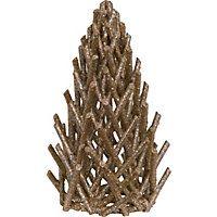 Small Gold Glitter Log Tree
