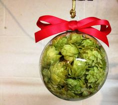 Holiday Hops Ball Glass Hops Ball Beer Hop by BlackCreekHops