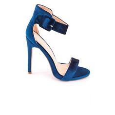 Ψηλό Πέδιλο Βελουτέ Κ554 Μπλε